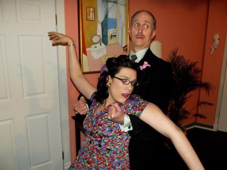 Jenn Robinson (Dora) and James McDaniel (Dunlap). Photo by Roy Peterson.
