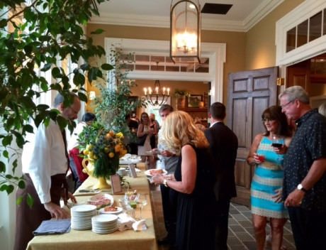 Guests enjoy the delicious food and drink at Willowsford.
