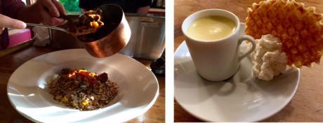 Pot au Feu – Moroccan Lamb Tagine prepared tableside – Vanilla and Grand Marnier Pot de Creme at The French Hound.