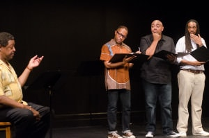 From left: Michael Sainte-Andress, Stanley Freeman, Jared Shamberger, and Monte J. Wolfe. Photo by Victoria Ford.