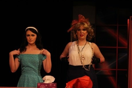Taylor Campbell and Megan Mostow as Julia and her cousin Holly. Photo Jim Littlefield.
