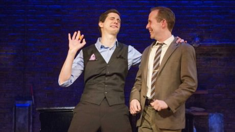 Kyle Branzel and Ian Lowe in Philadelphia Theatre Company's 'Murder For Two', Photo by Jim Cox.