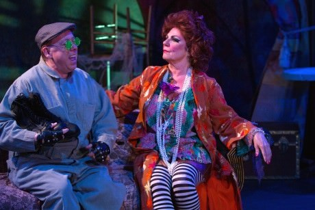 (From left:) Tony Greenberg (The Sewer-Man) and Cam Magee (Aurélie, the Madwoman of Chaillot). Photo by Teresa Wood.