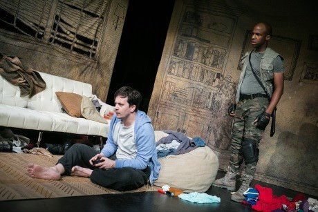Daniel Corey (Tyler) and Christian R. Gibbs (Soldier). Photo: C. Stanley Photography.