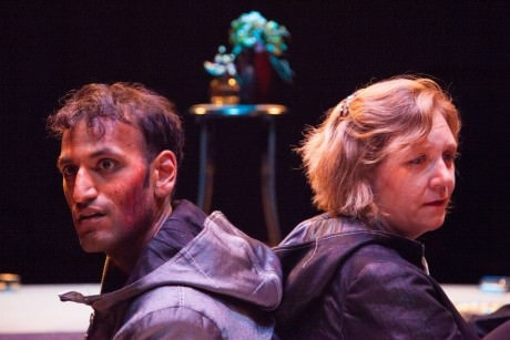 Len (Shawn Jain) and Elshe (Chantal Martineau). Photo by Daniel Corey.
