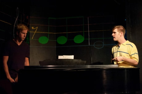 Reed DeLisle (left) as Beethoven and Sean Dynan (right) as CB. Photo by CMAldridge Photography.