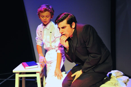 Alexander Rolinski (Young Franz) and Matthew Lindsay Payne (Franz Kafka). Photo by Valentin Radev.