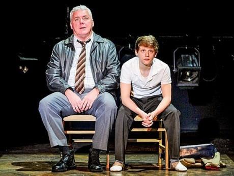 Ben Cook (Billy Elliot) and Rich Hebert (Dad).