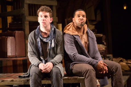 Guildenstern (Adam Wesley Brown, left) and Rosencrantz (Romell Witherspoon). Photo by Teresa Wood.