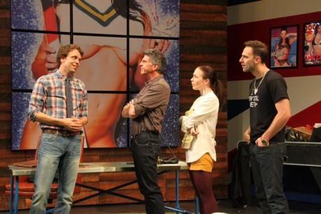 Sam (Brandon McCoy), Aidan (James Whalen), Charlotte (Laura C. Harris), and Rupert (Danny Gavigan). Photo by Danisha Crosby .