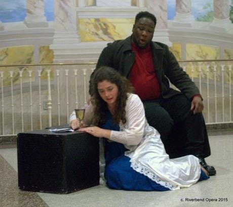 Thomas Beard  and Melissa Chavez. Photo courtesy of Riverbend Opera Company.