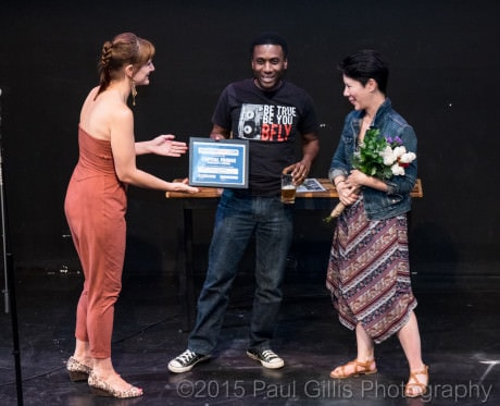Awards Ceremony Trinidad Theatre, July 26, 2015: 10th Annual Capital Fringe Festival. Photo Copyright 2015 by Paul Gillis Photography.