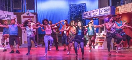 Andres Ponce and the cast of 'In the Heights.' Photo by Keith Waters.