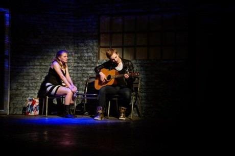 Nicole Sheehan (Whatsername) and Ben Ribler (Johnny). Photo by Traci J. Brooks Studios.