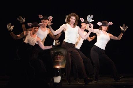 Laura Jordan (Clarice) and the ensemble. Photo by Igor Dmitry.