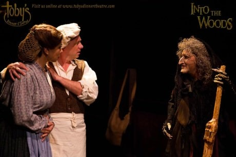 Priscilla Cuellar (The Baker's Wife). Jeffrey Shankle (The Baker), and Janine Sunday (The Witch). Photo by