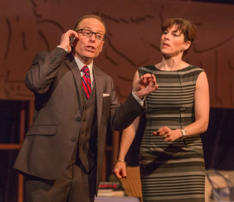 Jack B. Stein (Alan Raleigh) and Allison Block (Annette Raleigh). Photo by Keith Waters.