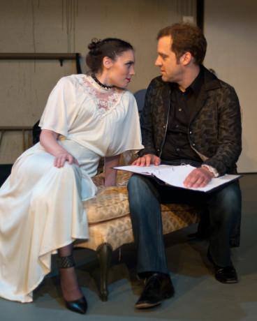 Alexandra Friendly (Vonda) and Christopher Andersen (Thomas). Photo by Harvey Levine.