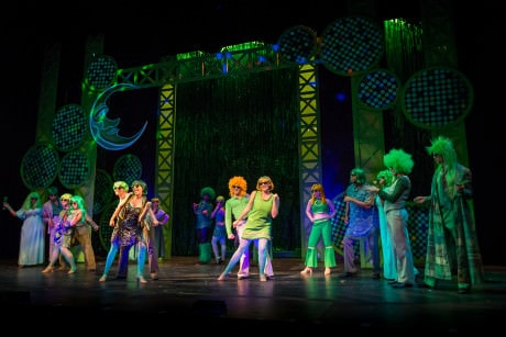 The ensemble of The Wiz in the Emerald City. Photo by C. King Photography.