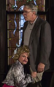 Shelley Delaney (Tammy Faye) and David Haugen (Jim Bakker). Photo by Daniel R. Winters.