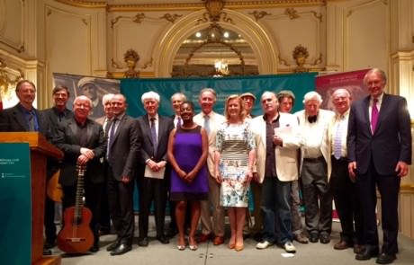 Ambassador Anne Anderson and participants at the Cosmos Club on Bloomsday.