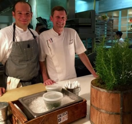 Head Chef Nate Waugaman (left) with Executive Chef Joe Raffa.