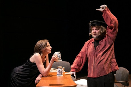 Michelle Eugene (Anna) and Sasha Olinick (The Third Man). Photo by Photo by Katie Simmons-Barth.