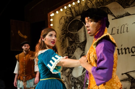 L-R: Drew Stairs, Emily Levey, and Hasani Allen in 'Kiss Me Kate.' Photo by Traci J. Brooks Studios.