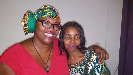 Playwright and actress Jacqui Brown and Darlene Cain mother of Dale Graham. Photo courtesy of Jacqui Brown.
