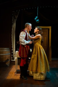 "Paul Scanlan and Karen Vincent in ""Kiss Me Kate."" Photo by Traci J. Brooks Studios."