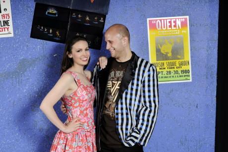 Katie Tyler (Julia Sullivan) and Andrew Worthington (Robbie Hart). Photo by Leo Heppner.