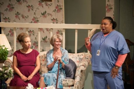 Lady Capulet (Dawn Thomas Reidy), Juliet (Claire Schoonover), and Nurse (Kecia A. Campbell). Photo by Lew Lorton/Saul Pleeter.