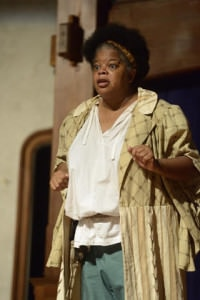 """Kay-Megan Washington as Falstaff in """"Henry IV, Part One."""" Photo by  Will Kirk."""