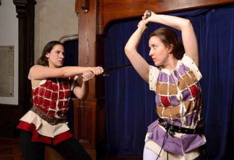 Caitlin Carbone (Hotspur) and Ann Turiano (Prince Henry). Photo by Will Kirk.