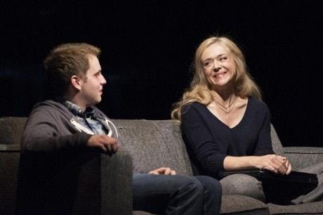 Ben Platt (Evan) and Rachel Bay Jones (Heidi). Photo by Margot Schulman.