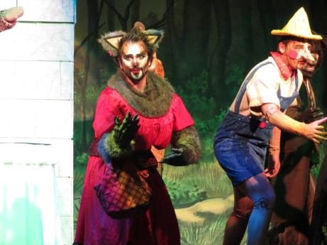 Henry Cyr (The Big Bad Wolf) and Willem Rogers (Pinoccio). Photo courtesy of Glyndon Area Players.