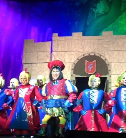 Homero Bayarena (Lord Farquaad) and the Duloc Dancers. Photo courtesy of Glyndon Area Players.