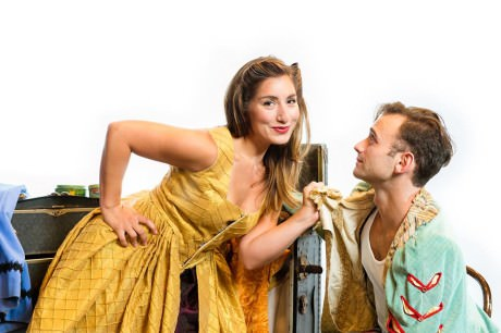 """Emily Levey and Stephen Russell Murray in 'Kiss Me Kate."""" Photo by Traci J. Brooks Studios."""