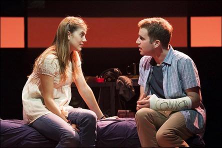 Laura Dreyfuss (Zoe) and Ben Platt (Evan) . Photo by Margot Schulman.