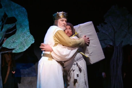 Jimmy Payne (King Arthur) and Michael J. Margelos (Patsy). Photo courtesy of The Port Tobacco Players.