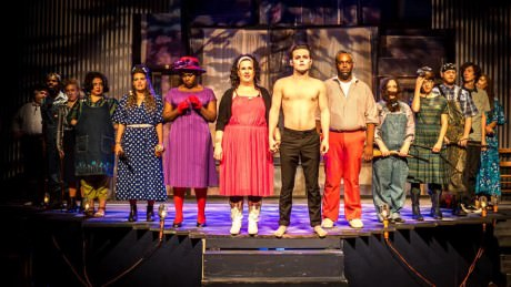 The cast of 'Bat Boy: The Musical.' Photo by Rob Clatterbuck.