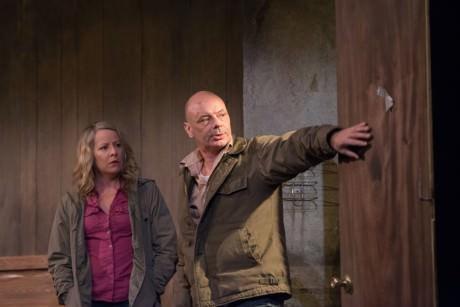 Tasha Lawrence as Kate and Lee Sellars as Stine. Photo by Seth Freeman.