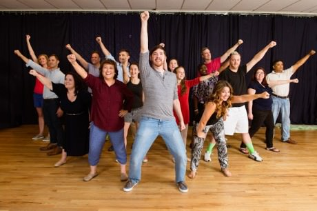 The cast of 'Shrek The Musical' in rehearsal. Photo by Traci J Brooks Studios.