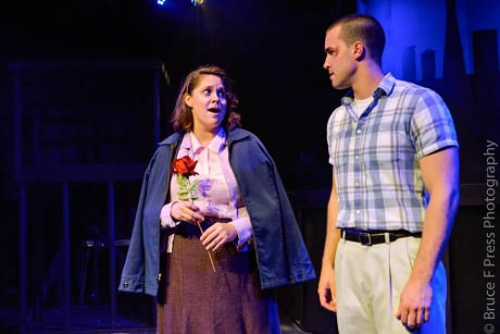 Courtney Branch (Rose) and Christian Hoff (Eddie). Photo by Bruce F. Press Photography.