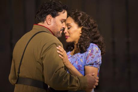 Rafael Davila (Don José) and Jacqueline Echols (Micaëla). Photo by Scott Suchman .