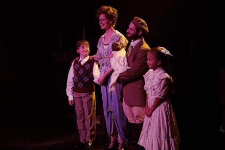 ELizabeth Rayca (Mother), Joshua Simon (Tateh) and their new family. Photo by Jerry Tidwell.