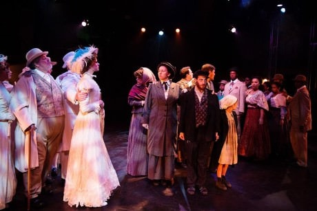 Center: Joshua Simon (Tateh) and cast members of 'Ragtime: The Musical.' Photo by Jerry Tidwell.
