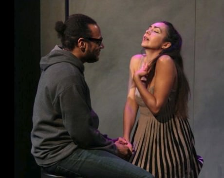 Andre and Wendy (Ricardo Frederick Evans (Andre) and Ariana Almajan (Wendy). Photo courtesy of Thelma Theatre.
