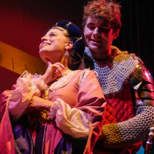 Lady Larken (Erin Paluchowski) is in love with Sir Harry (John Culhane). Photo by Andrew Culhane