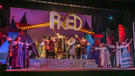 The cast of 'Once Upon a Mattress.' Photo by Andrew Culhane.